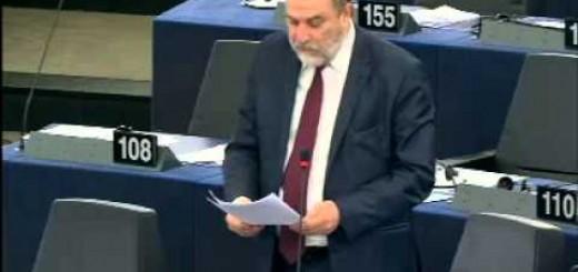 Ο Νότης Μαριάς καταγγέλλει στην Ευρωβουλή τις τουρκικές παραβιάσεις της Κυπριακής ΑΟΖ.