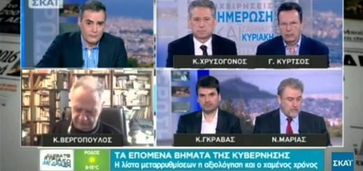 Τοποθέτηση του Νότη Μαριά στην εκπομπή της τηλεόρασης του Σκάι «Σαββατοκύριακο με Δράση με τον Σπύρο Μάλλη» στις 21.3.2015 για Τσίπρα και Οκταμερή Συνάντηση.