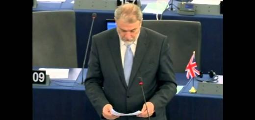 Νότης Μαριάς στην Ευρωβουλή: Η Ελλάδα δεν αντέχει άλλους παράνομους μετανάστες.