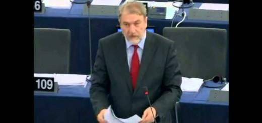 O Νότης Μαριάς στην Ευρωβουλή για την Έκθεση Μιλάνο 2015.