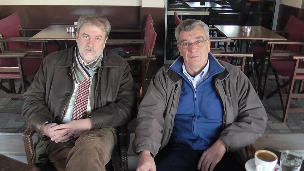 Ο Νότης Μαριάς με τον Δήμαρχο Μυτιλήνης Σπύρο Γαληνό