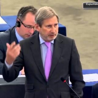 Τα άκουσε χοντρά ο Αυστριακός Επίτροπος Johannes Hahn για τρόικα και κόκκινα δάνεια μικρομεσαίων επιχειρήσεων