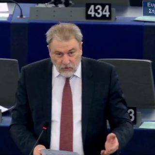 Νότης Μαριάς στην Ευρωβουλή: Όχι στην ένταξη των Σκοπίων στην ΕΕ