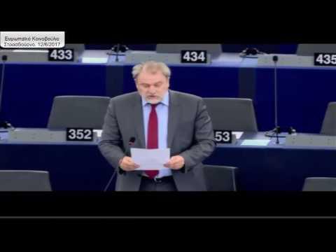 Παρέμβαση Νότη Μαριά στην Ευρωβουλή για τις καταστροφές σε Λέσβο και Αμύνταιο