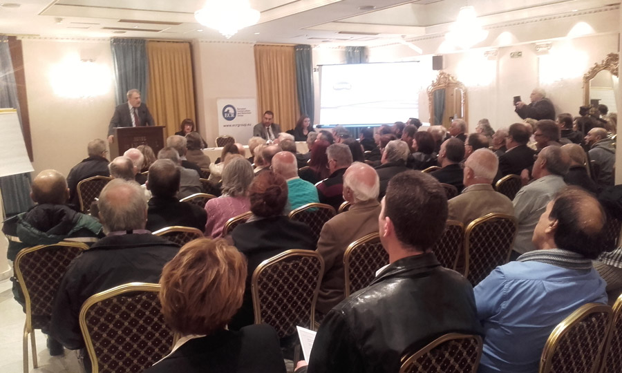 Πλήθος κόσμου στην ομιλία του Νότη Μαριά για τα κόκκινα δάνεια στη Θεσσαλονίκη