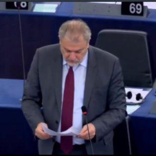 Νότης Μαριάς στην Ευρωβουλή: Τα νησιά του Αιγαίου δεν αντέχουν άλλους παράνομους μετανάστες